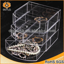 luxury desktop clear acrylic jewelry display case for sale