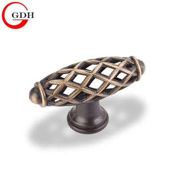 Furniture hardware machine iron Kitchen cabinet pull door Birdcage knob handle