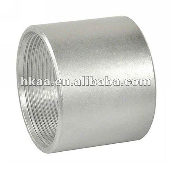 Steel Pipe repair Coupling with Galvanized and Full Thread
