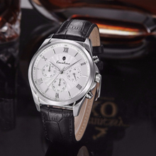 MAN'S watch stainless steel case fashion leather(OEM/ODM)