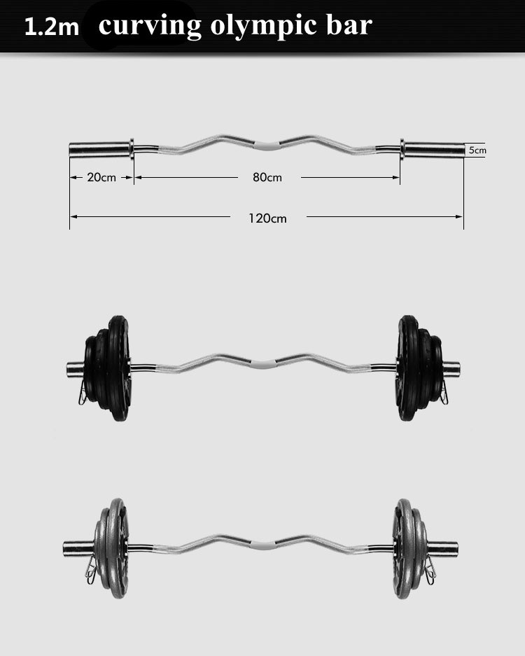 Chrome ez Bar type chrome 180cm barbell Olimpic weight lifting bar