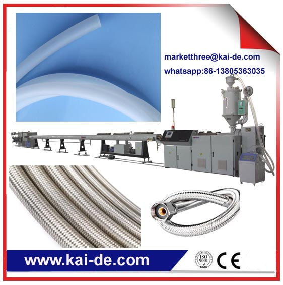 Stainless steel wire braided flexible plumbing hose manufacturing machine supplier/ plumbing hose production machine