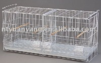 foldable wire bird cage with feeder