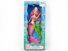 9Inch Mermaid,Plastic Mermaid Set with Solid Body -- CE075660