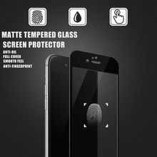 New product 2016! 3D Full curved anti-fingerprint mobile phone matte tempered glass screen protector for iphone6s/ 6s plus