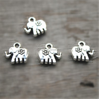 Elephant charms Antiqued Tibetan Silver Elephant Charms Pendants 12x12mm