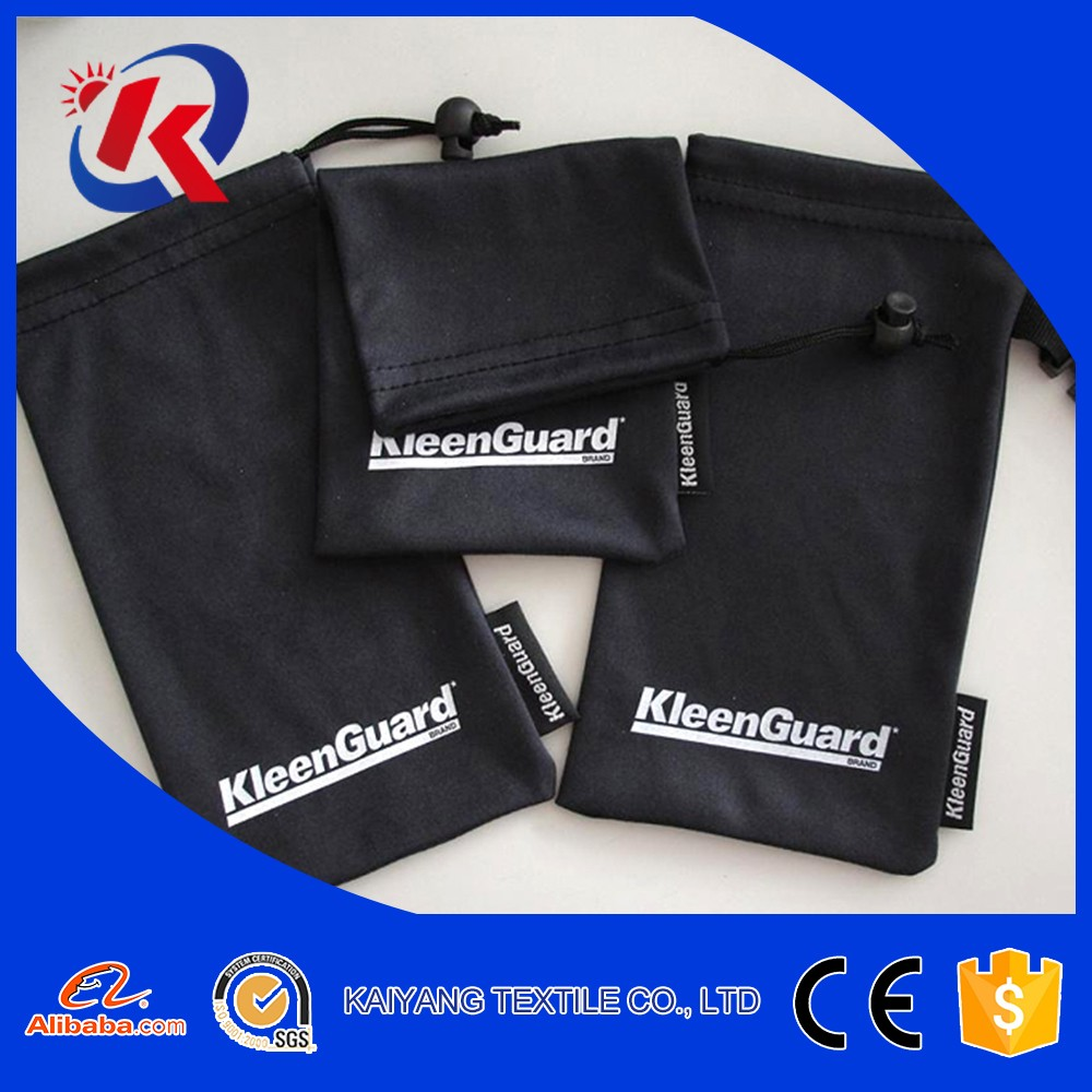 custom printed dust proof microfiber pouch for sunglasses