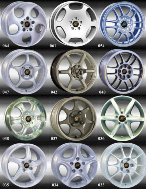 Alloy wheel car