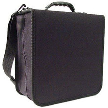 Black CD/DVD Vinyl Carrying Cases for 288 Disc