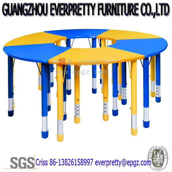 blau gelb bunte runde kinder tisch und st hle holz studie tisch f r kinder kinder schulm bel. Black Bedroom Furniture Sets. Home Design Ideas