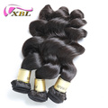 XBL 8a hot selling cuticle aligned raw brazilian virgin hair loose wave