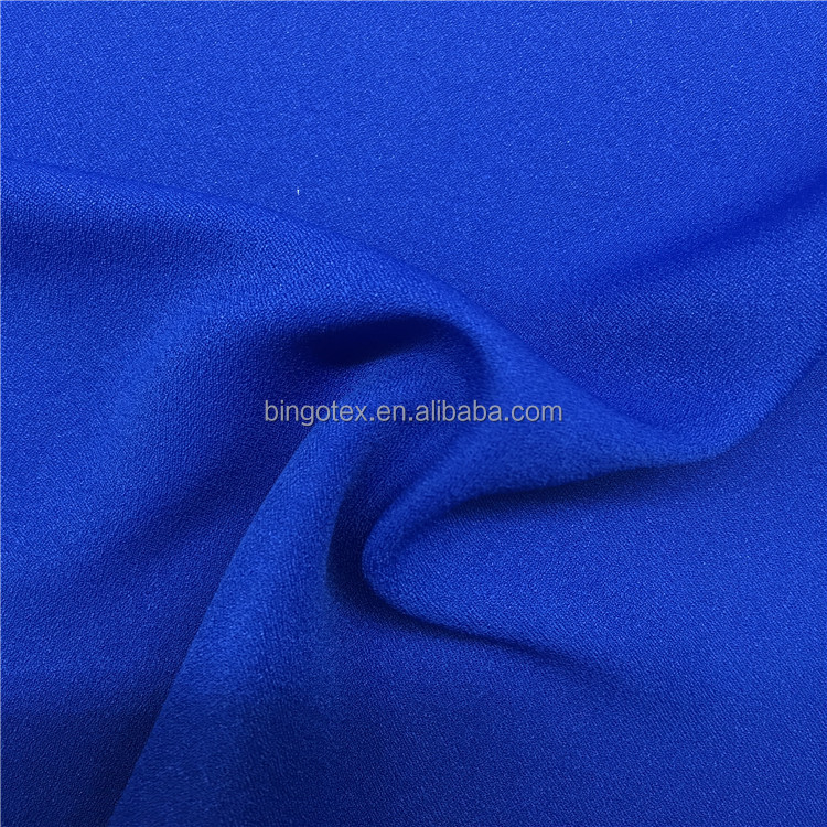 China suppliers 100%poly woven false twist crepe back satin fabric for lady's tops