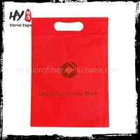 Reusable good quality nonwoven bag, small recycled bags, kids punching pouch