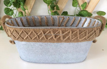 Best selling home decorative oval stainless stell planter germination tray