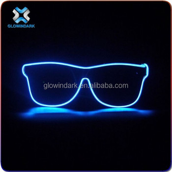 2016 New Style Factory Wholesale Light Up El Wire Sunglasses