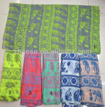 2013 lady printing tribal voile fashion scarf (SE-6507)