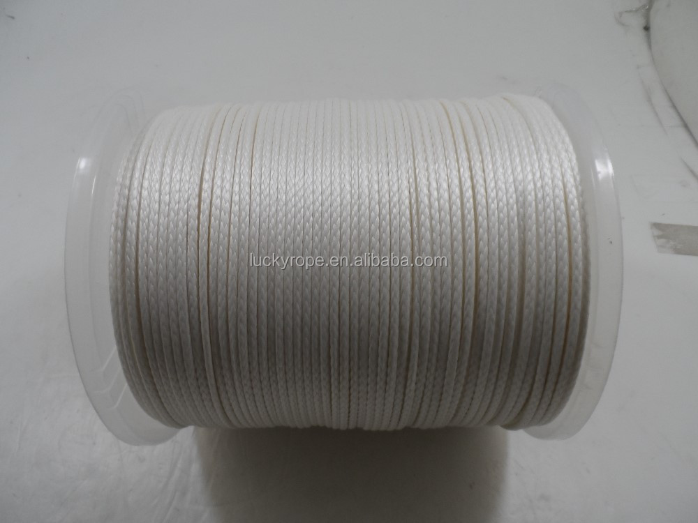 white UHMPE paragliding winch rope,paraglider towing winch line