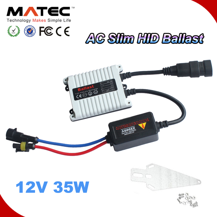 Factory Wholesales Black/White HID Lighting 12V AC Hid Ballast 35w