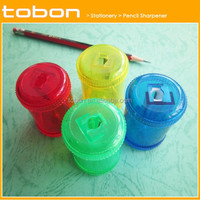 round barrel contianer shaped one hole plastic pencil sharpener