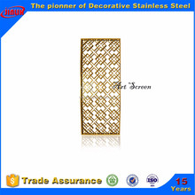 Luxury ti gold stainless steel folding screen for interior decoration
