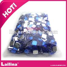 high quality hot fix flat back square shape acrylic rhinestone for decoration