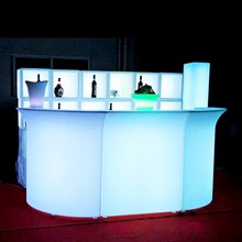 Modern Furniture Illuminated LED bar counter table