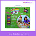 Rainbow Art Set With Handy Plastic Box,Popular Kids Art Set