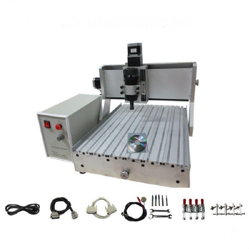 No need assembled & tested! 3d <strong>cnc</strong> wood carving machine <strong>cnc</strong> 3040 Z-D 500W spindle 4 axis
