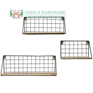home wall shelves metal wire hanging commodity shelf / flower rack