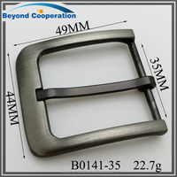 light gun metal brush colour zinc alloy custom metal pin belt buckle wholesale with factory price