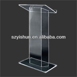 Customized acrylic lectern stand acrylic tabletop lectern