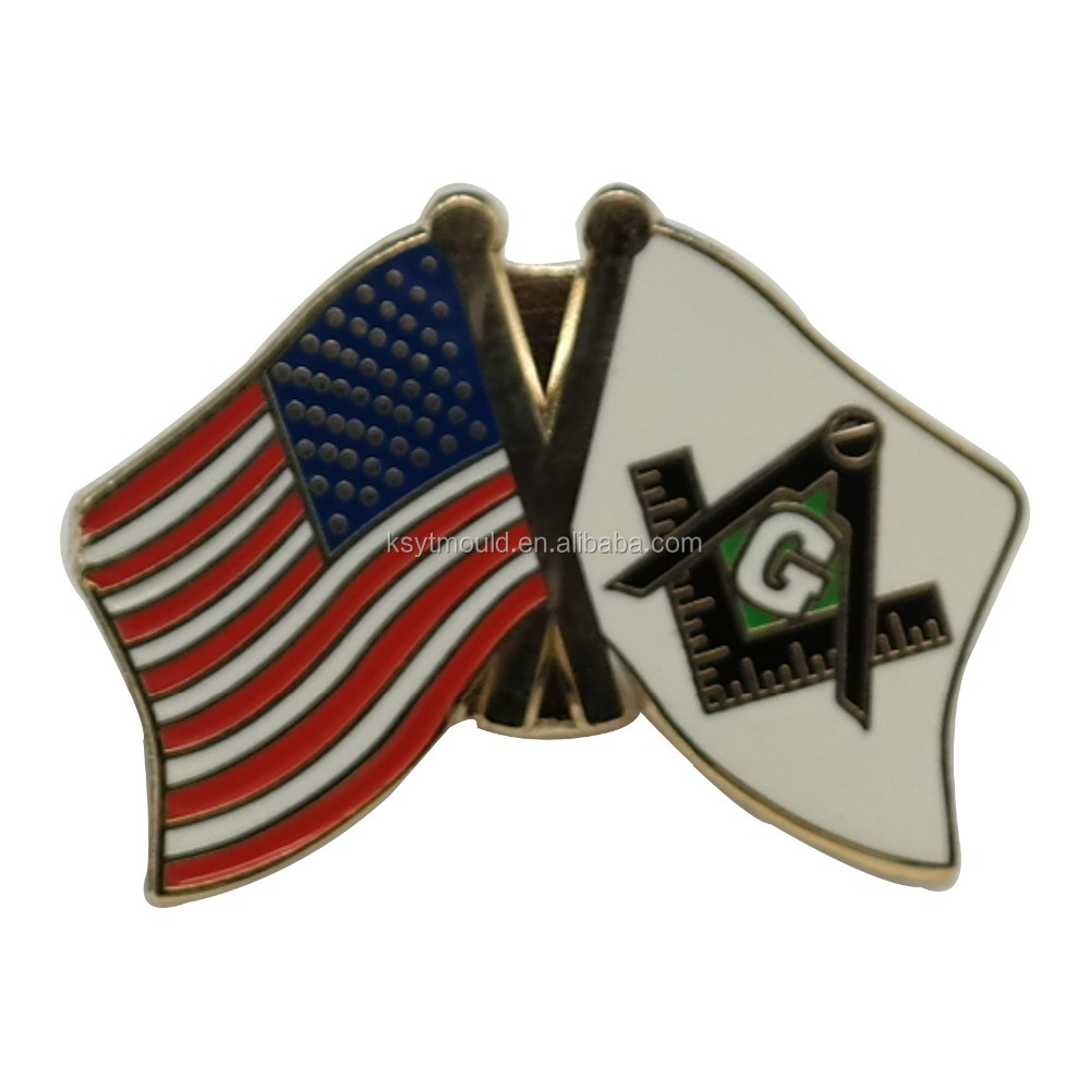 Custom masonic lapel pin flag pins custom enamel pins
