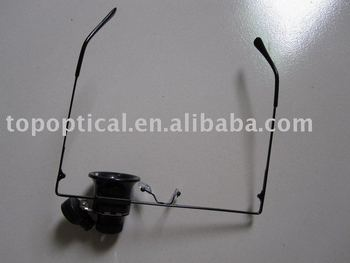 glasses magnifier with LED