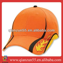 wholesale alibaba salmon orange baseball caps sports flames baseball hat for custom design