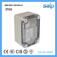 ABS Rectangular Clear Plastic Box/Waterproof Switch Enclosure With mesh plate 65*95*55mm Size
