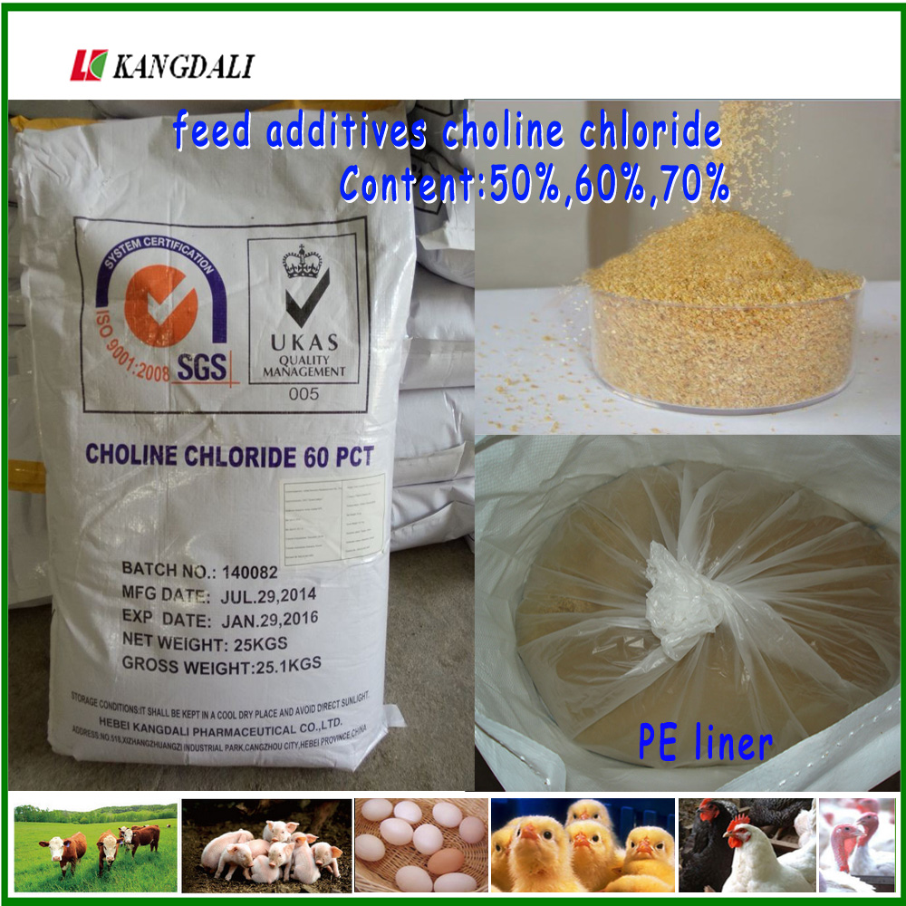 Animal Nutrition choline chloride 50% 60% 70% feed grade for poultry livestock fish