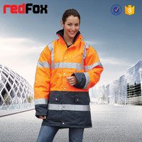 wholesale waterproof high visibility safety xxl womens ski jacket