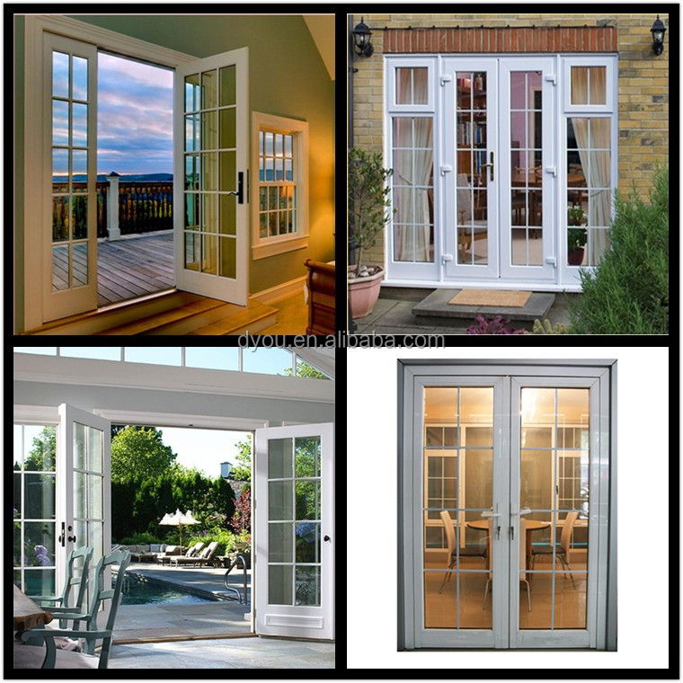 Fashionable new style aluminum exterior french doors for for Exterior french doors for sale