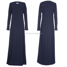 New design navy modest islamic abaya and hijab for muslim ladies fashion