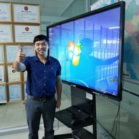 High quality 4K Monitor interactive flat panel touch screen display