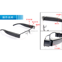 Digital HD 1080p wireless video camera glasses
