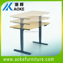metal sit stand office desk with height adjustable
