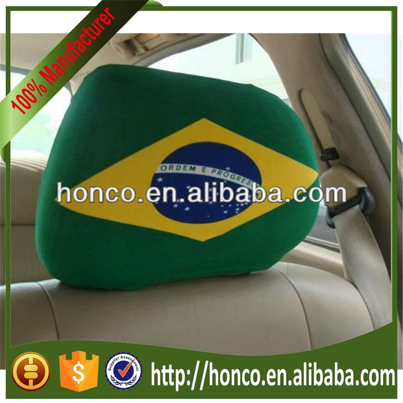 Football Fans Brazil flag logo Polyester Car seat cover