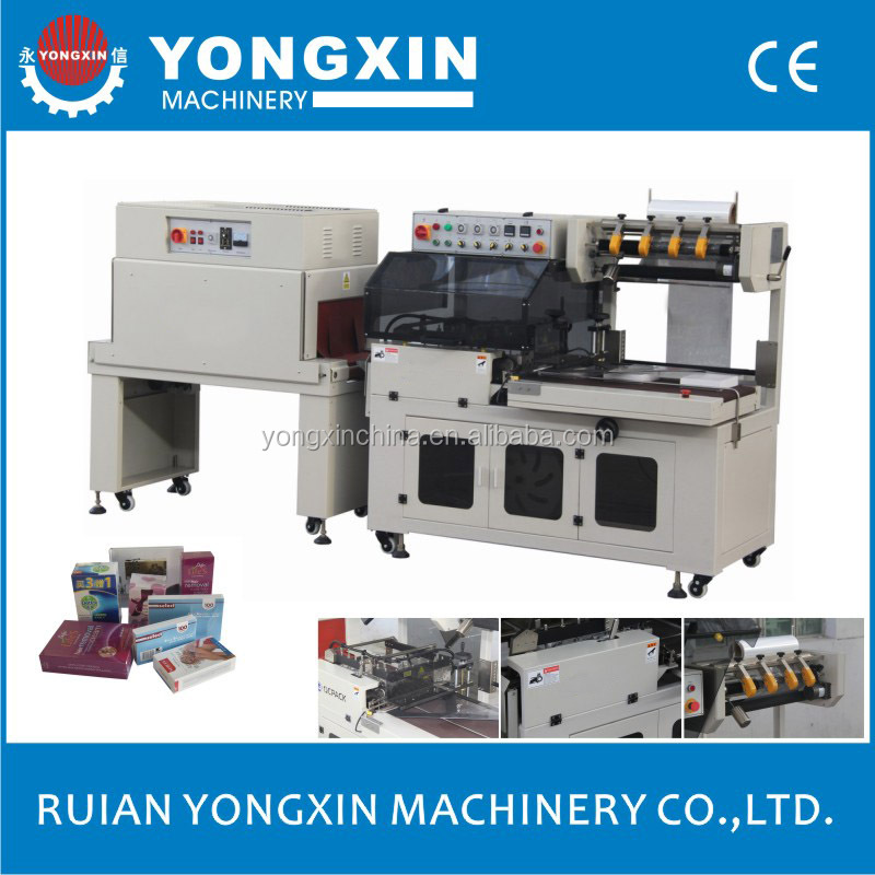 BTA-450+BM-500 L type plastic film shrink wrapping machine