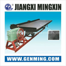 High rich ore ratio Triangle groove shaking table for fine mineral separation