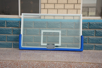 1800mm*1050mm Full Size Laminated Glass Basketball Backboard and Rim For School