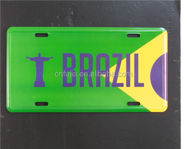 cmyk printing metal BLANK car license plate
