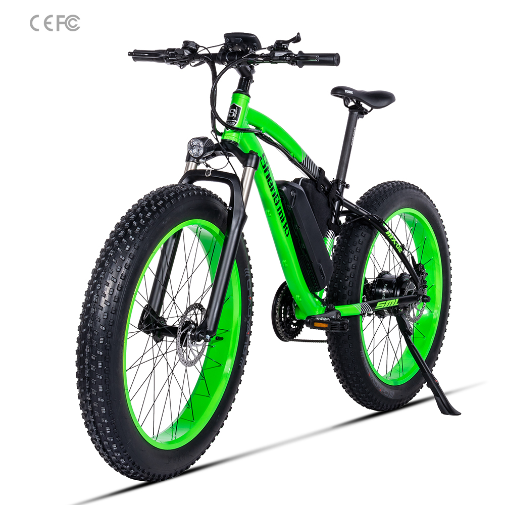 Green Electric Bike Chinese e Bike 4.0*26 inch fat tire electric bicycle