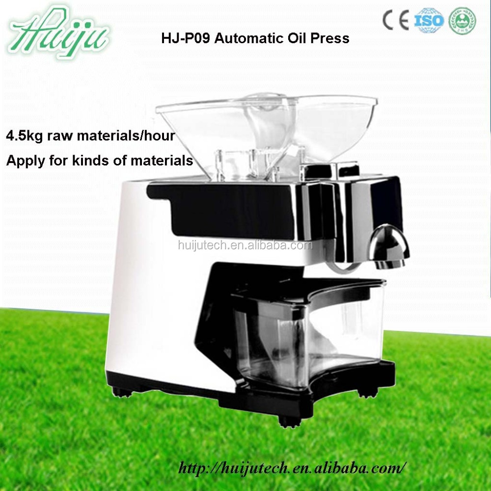 Huiju Brand efficient oil producing automatic type olive oil cold press machine HJ-P09