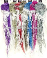 Wholesale Leopard Printed Triangular Scarves with Danglings Purple Grey Red Brown Red Fushia